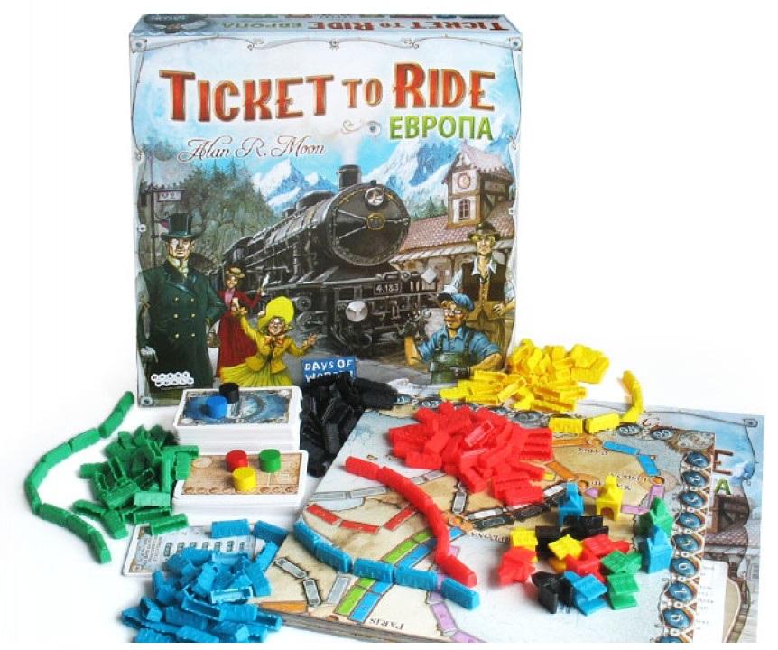 Настольная игра для новичков Ticket to Ride Европа