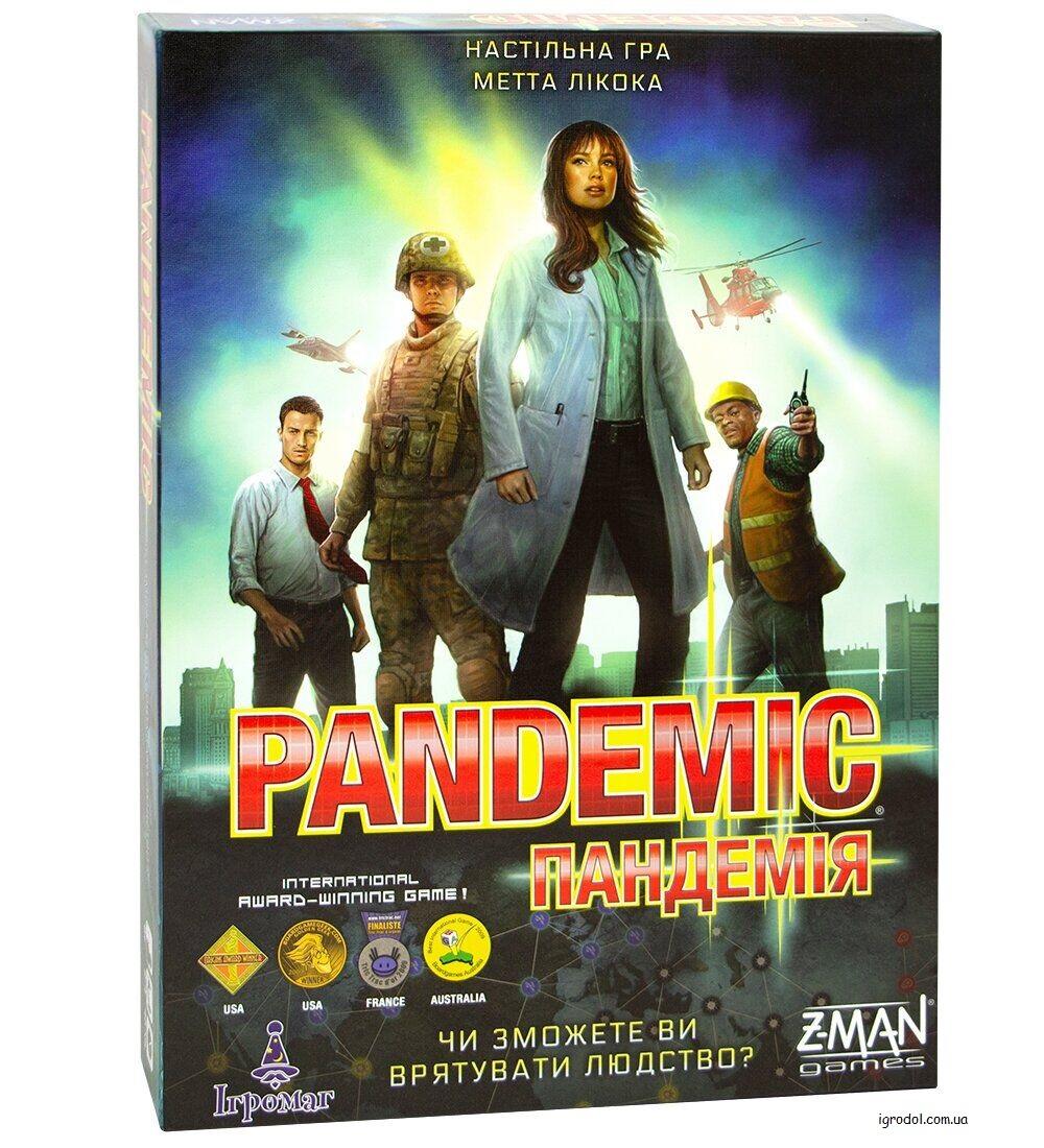 Настольна игра для начинающих Пандемия